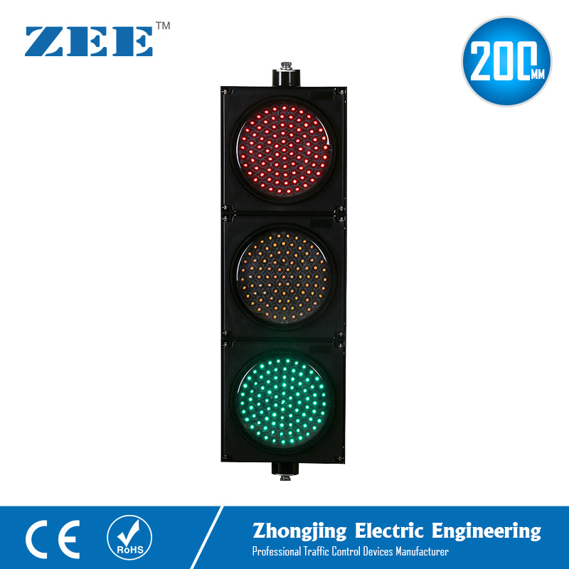 8 inches 200mm LED Traffic Light Red Yellow Green LED Traffic Signal Light цены