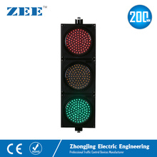 8 inches 200mm LED Traffic Light Red Yellow Green LED Traffic Signal Light 100mm diameter red yellow green cluster one piece traffic signal module