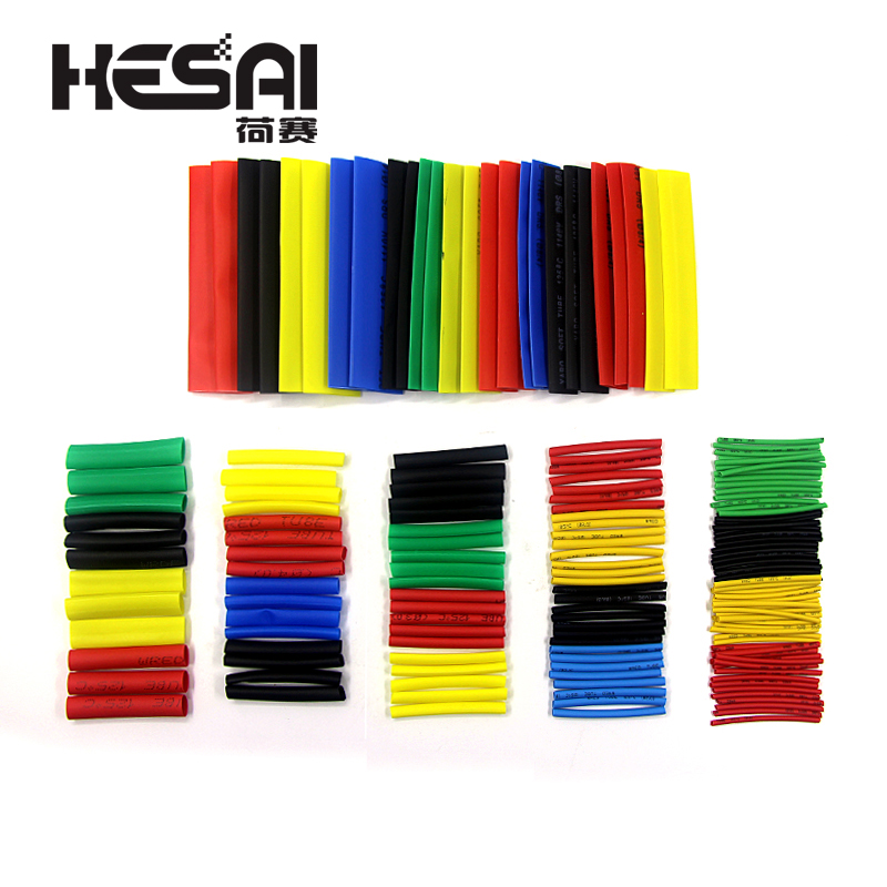 Image 3 - 164PCS Heat Shrinkable Tube Polyolefin Casing Cable Tube Kit Mixed Color-in Insulation Materials & Elements from Electronic Components & Supplies