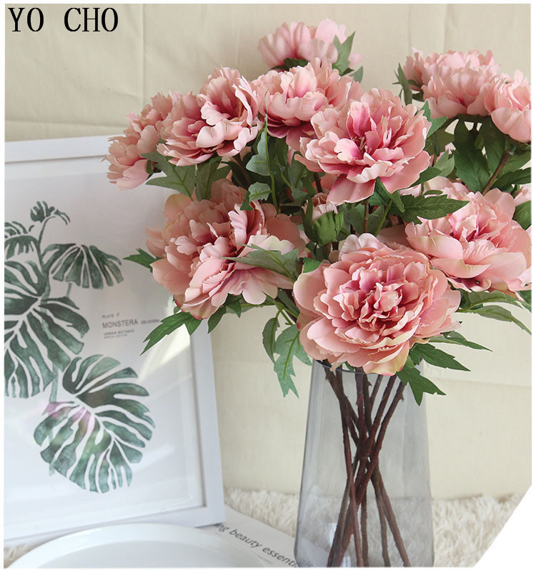 Chinese national flower peonies  simulation big peony flowers for home, living room, bedroom, party,wedding,hotel ,shopwindow  decoration arranging flower accessories for christmas new year Halloween Thanksgiving Anniversaries