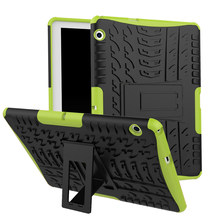 9.6 ''Tablet Armor Protector Case Voor Huawei T3 10 Hybrid Stand PC + Soft TPU Cover 30 stks/partij(China)