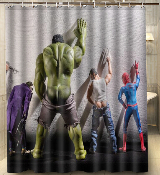 Custom Hulk Thor Joker Spider Man Fashion Shower Curtain 160x180cm Waterproof Mouldproof Decor Bathroom In Curtains From Home Garden