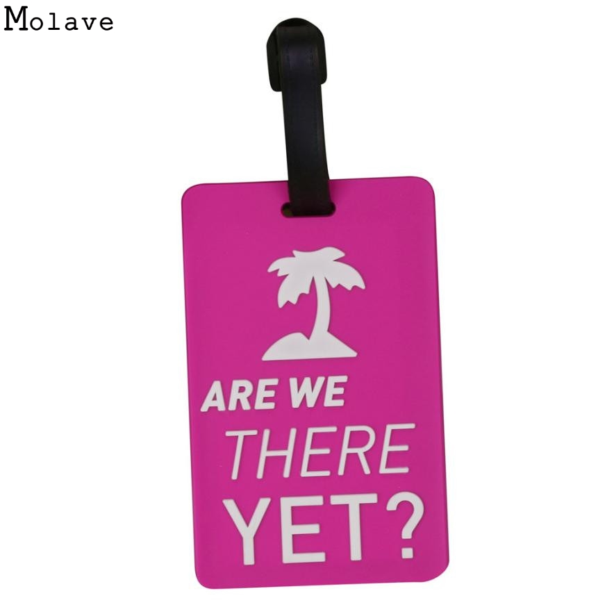Luggage Tags for Travel New Style 2017 Suitcase Luggage Tags Unisex ID Address Holder Silicone Identifier Label For Travel Jun14