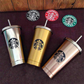 2016 Newest Stainless Steel 304 Double Layer Vacuum Cup Car Cup 16OZ Send with a Gift Stainless Steel Straw Free Shipping