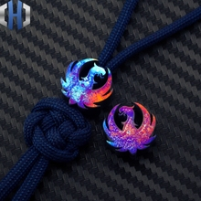 Knife Umbrella Rope Beads Pendant EDC Titanium Alloy TC4 Roasted Blue Pendants Fall