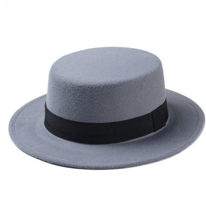 Spring Summer Sombreros Beach Sun Hats For Women Winter Vintage Fedora Hat  Wool Felt Wide Brim Bowler Church Cap Chapeu-in Fedoras from Women s  Clothing ... d4bb5230d46