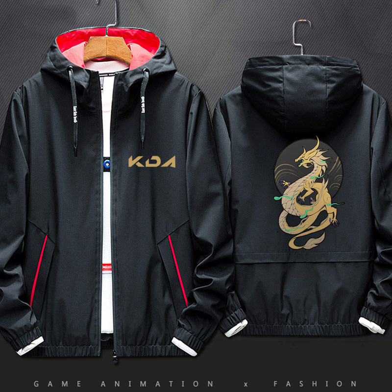 Anime Game LOL Akali Cool Style Cosplay Coat Autumn Winter Youth Fashion Jacket Zipper Hoodie Top