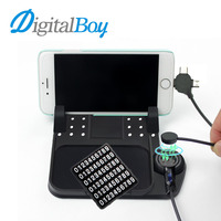 Digitalboy Multi Functional Magnetic Charge Silicone Anti Slip Mat Car Navigation Mobile Phone Pad USB Charger