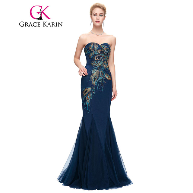 Grace karin roben de soiree 2017 longue pfau prom dress Dubai ...
