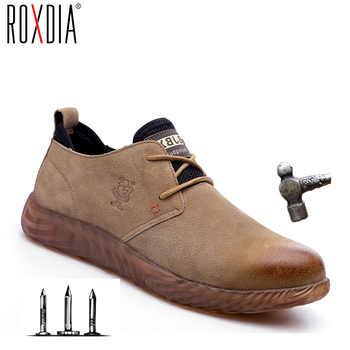 ROXDIA brand pig skin steel toecap men women safety boots plus size 37-45 spring autumn casual lightweight work shoes RXM121 - DISCOUNT ITEM  60% OFF All Category
