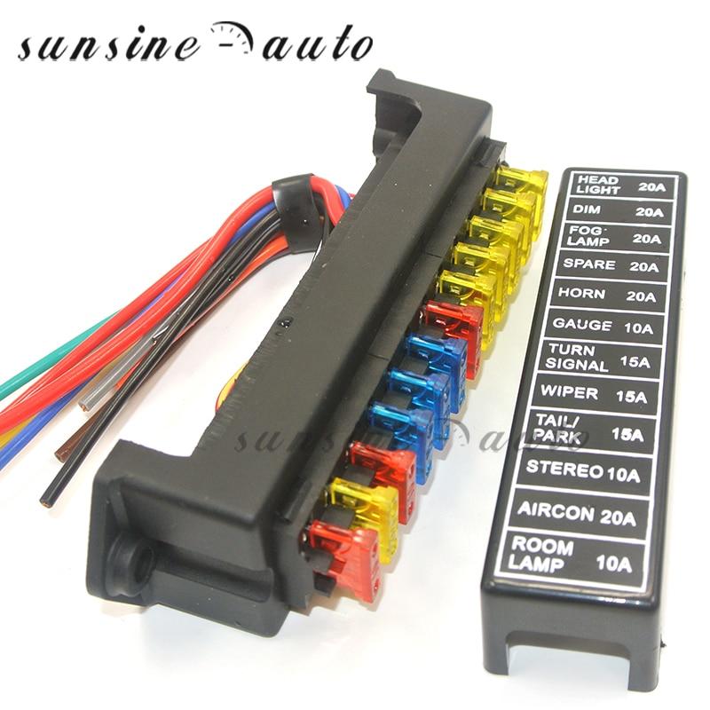 12V-32V Universal Car 8 Way Circuit ATO Blade Fuse Block Holder