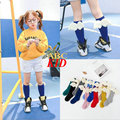 Angel Wing Girls Stocking Solid Color Long Tube Meias Kids Cute Stockings Medias Children Calcetines Accessories KD367