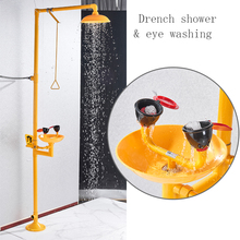 Dfrkjhre 304 Edelstahl Verbindung Auge Washer Notfall Spray Vertikale Dusche Dusche Auge Waschmaschine
