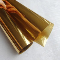 HOHOFILM 1.52x30m 3Mil Double Side Gold Mirrored Window Film Home Decor Glass Sticker Decorative Film Whole Roll