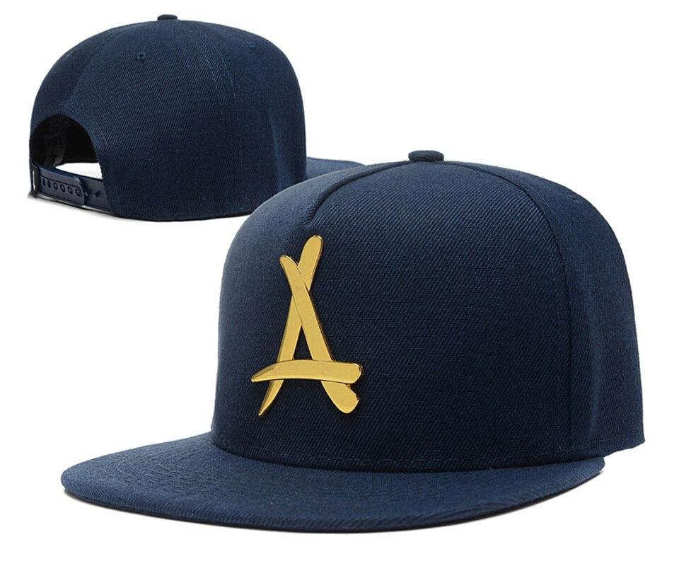fa03d920a6707 ... real tha alumni gold a letter snapback caps swag hip hop cap baseball  hats for men