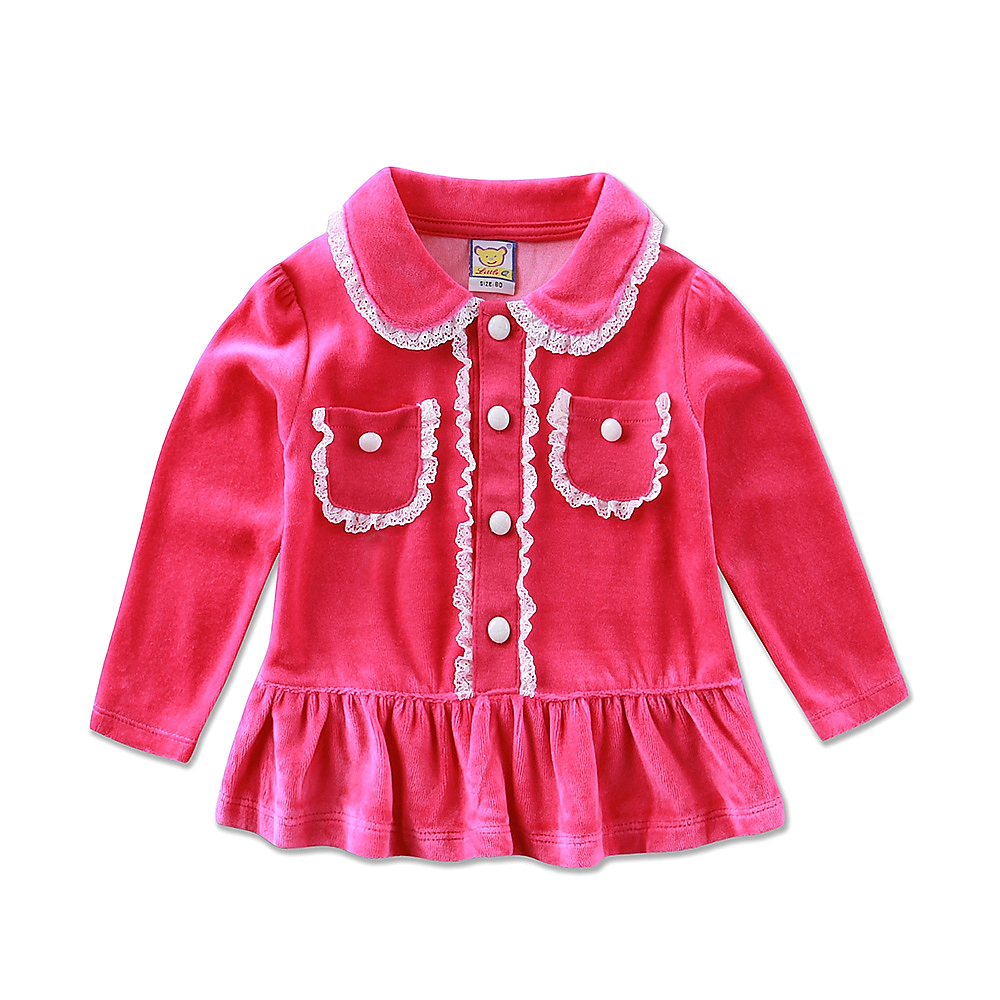 2017 New arrival velvet baby girl spring princess long-sleeved dress summer birthday newborn clothes fashion tee autumn t shirt girls summer dress 2017 fashion long sleeved lace dress girl princess dress free shipping
