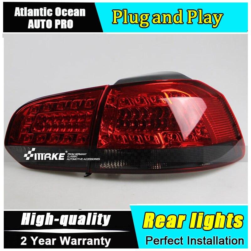 цена на 2009-2013 for vw golf mk6 led taillights VW golf 6 led tail lamps car styling for golf 6 led rear lights led light guide