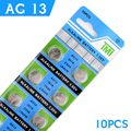 10Pcs/1card AG13 Button Cell Batteries Wholesale SR1154 SR44 LR44 357 1.55V A76 H Size 11.6*5mm For /Digital-watch