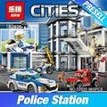 Lepin 02020 965 Unids City Series La Nueva Estación de Policía Establece Niños Educativos Bloques de Construcción de Ladrillos Niño Juguetes Modelo de Regalo 6014