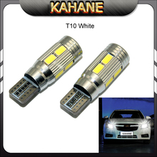 2 X T10 LED W5W Car LED Auto Lamp 12V Light bulbs with Projector Lens for ford focus 2 3 fiesta mondeo ecosport kuga drl