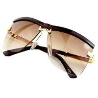 2015 Fashion Women Swmi Rimless Goggle Polarized Sunglasses 6 Colors Sumery Hot Sale