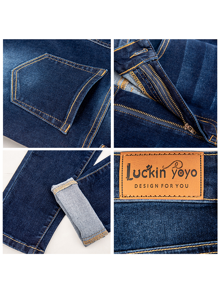 luckinyoyo jean jeans for women with high waist pants for women plus up large size skinny