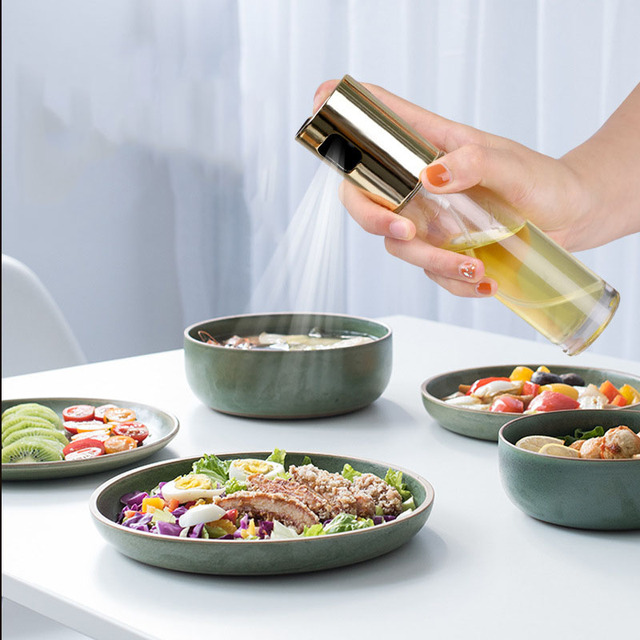 Kitchen Oil Sprayer Dispenser for Cooking Salad BBQ Baking