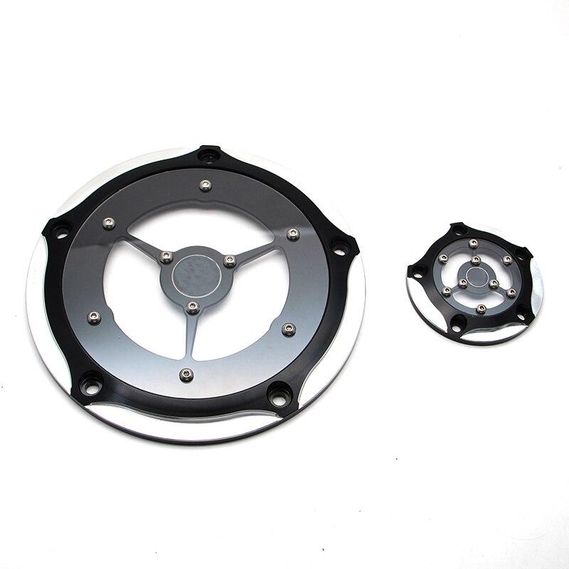 1 комплект прозрачный Крышка Дерби и таймер покрывает глубокий точность и ясность, пригодный для Harley СПОРТСТЕР XL с 2004-16