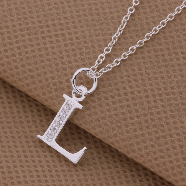 Top Quality Plated Silver Letters L N O Pendant Necklace With Zircon Street Fashion Style Charm Jewelry Global Hot In Necklaces From