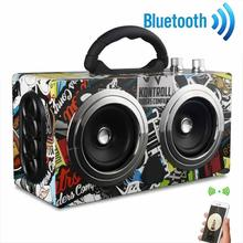 High Quality Wooden High Power Outdoor Bluetooth Speaker Wireless Stereo Super Bass Subwoofer Dancing Loudspeaker
