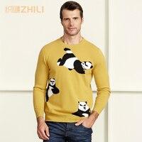 Зимние Для мужчин джемпер 100% чистого кашемира вязаный свитер с длинными рукавами и круглым вырезом теплые пуловеры мужской новинка 2017 года