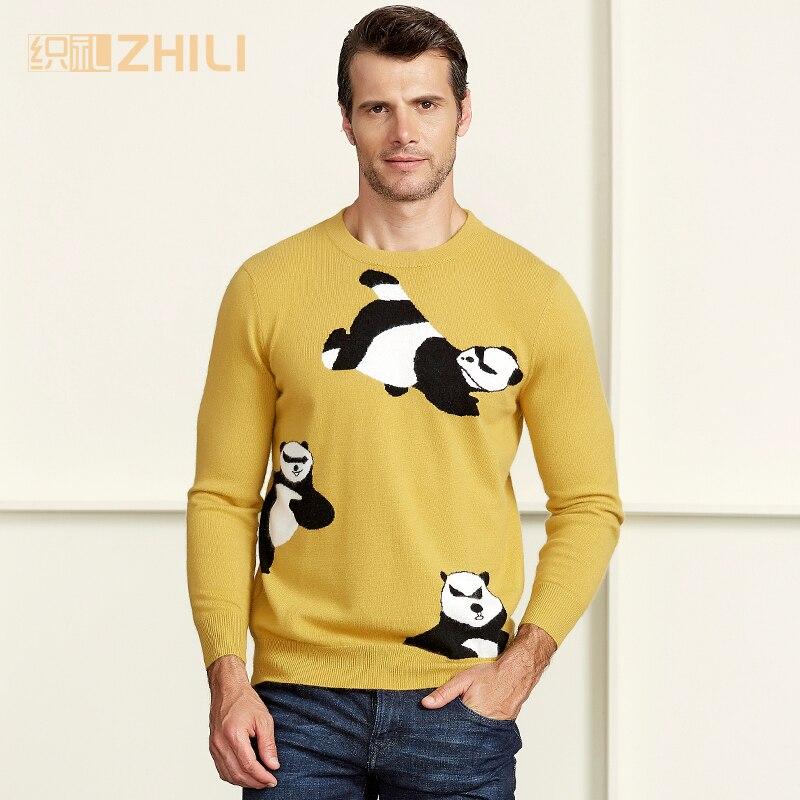 Зимний мужской джемпер из 100% чистого кашемира, вязаный свитер с круглым вырезом и длинными рукавами, теплые пуловеры для мужчин, новинка 2017,