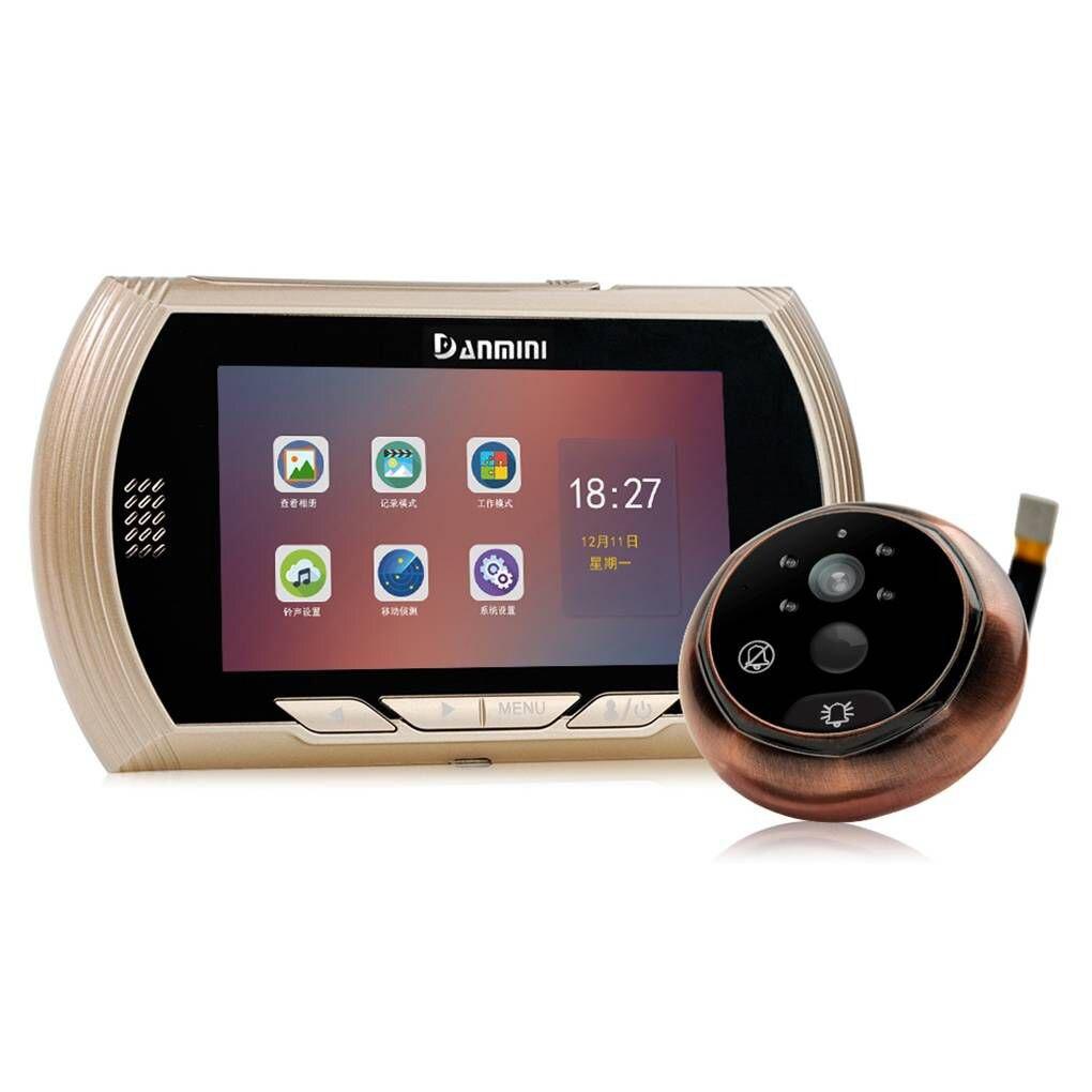 Danmini 4,5 ips HD Экран Цифровой глазок Камера двери Ночное видение с 170 градусов Широкий формат