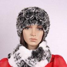 Бесплатная доставка Рекс кролика волосы меховая шапка 2017 роза осенью и зимой женщина носком защитный колпак шляпа