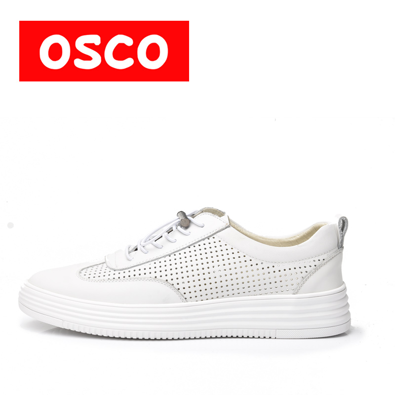 OSCO Factory direct ALL SEASON New Men Shoes Fashion Men Sneakers COW LEATHER Shoes#A1535 пена бытовая mastertex all season 300 мл всесезонная