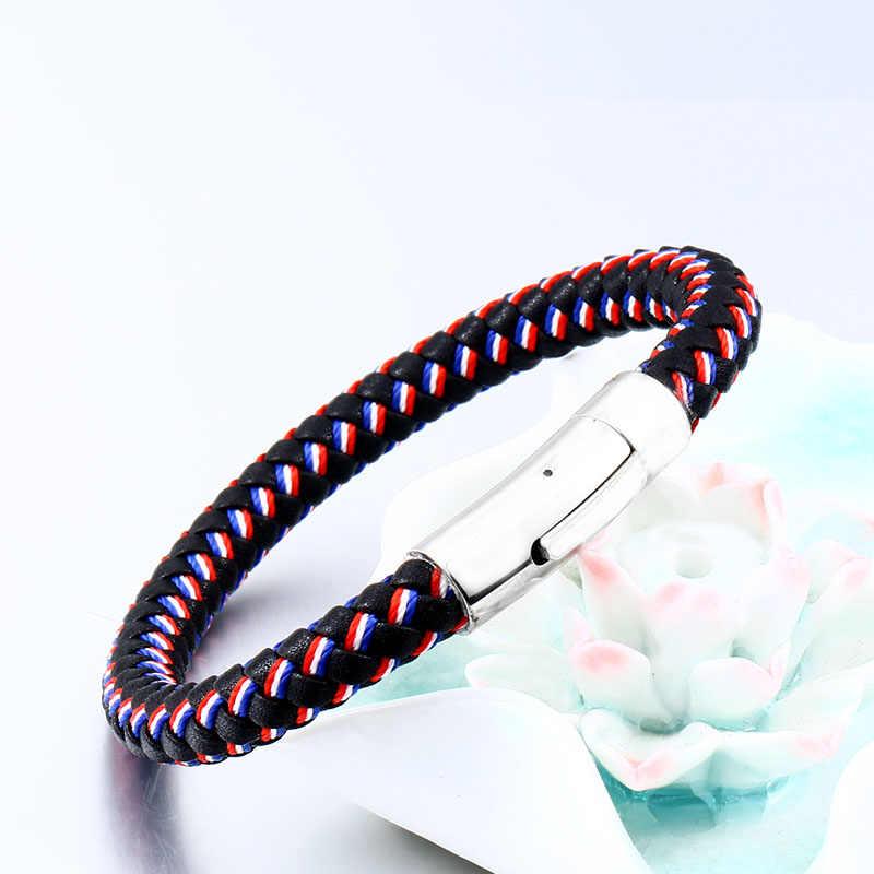 Beier новый магазин смешанных цветов и сочетаний простой браслет для мужчин и женщин трехцветные тканые модные ювелирные изделия LLBC-L0101