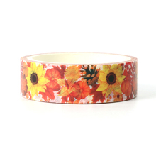 1pcs Creative Sunflower Washi Tape Adhesive Paper Tape School Office Supplies DIY Scrapbooking Decorative Sticker Tape 5m deli 6pcs office adhesive tape color shredder tape paper manual tape diy decorative greeting card sticker classification sticker