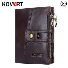 2019 new brand Wallet men leather genuine wallets purse short male clutch leather wallet mens money bag quality guarantee цена
