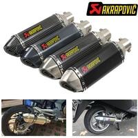 Akrapovic Motorcycle exhaust with db killer for yamaha ttr250 raptor 700 tw200 xt660x wr 125 xjr 400 r1 2004 xj 600 sr 250