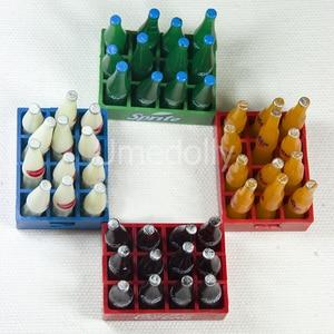 Кукольный домик, миниатюрная газировка кола, молочный напиток, ролевые игры, кукольная пищевая игрушка для кукол Blyth, 1 десяток 12 бутылок, 1/12