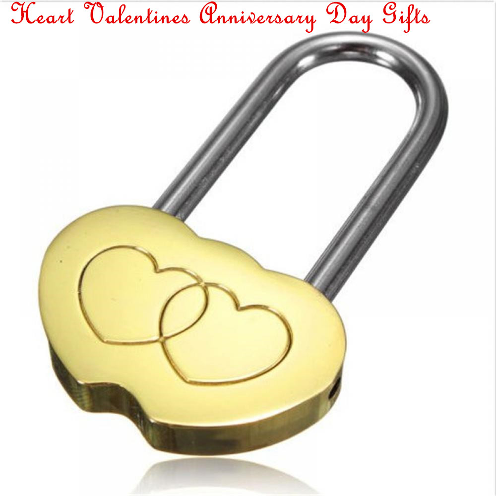 Hot Sale Padlock Love Lock Engraved Double Heart Valentines Anniversary Day Gifts Couple Christmas Gift