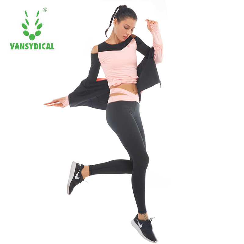 Brand 2017 Women's Sport Suits Fitness Yoga Set Sportswear Training Running Tights Quick Dry Striped Gym Jogging Clothes 4pcs men s sport running suits 5pcs set quick dry 2017 survetement basketball soccer training tracksuits men gym clothing sets