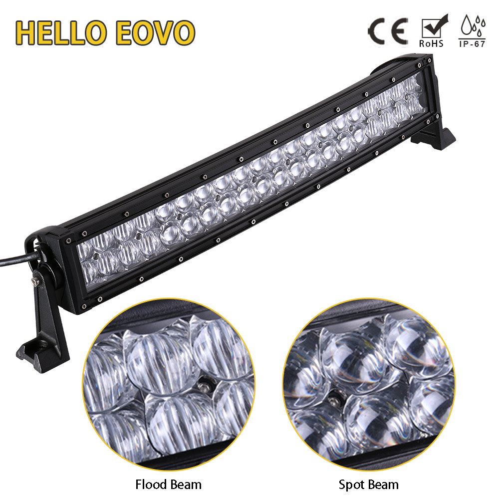 HELLO EOVO 5D 22 inch Curved LED Light Bar for Work Driving Offroad Boat Car Tractor Truck 4x4 SUV ATV 12V 24v hello eovo 43 inch 288w led work light bar wiring kit for off road work driving offroad boat car truck 4x4 suv atv combo