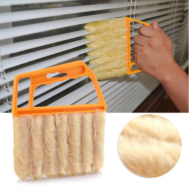 New Vertical Window Blinds Cleaning Brush 7 Shape Hand Held Washable Microfiber Cloth Cleaner