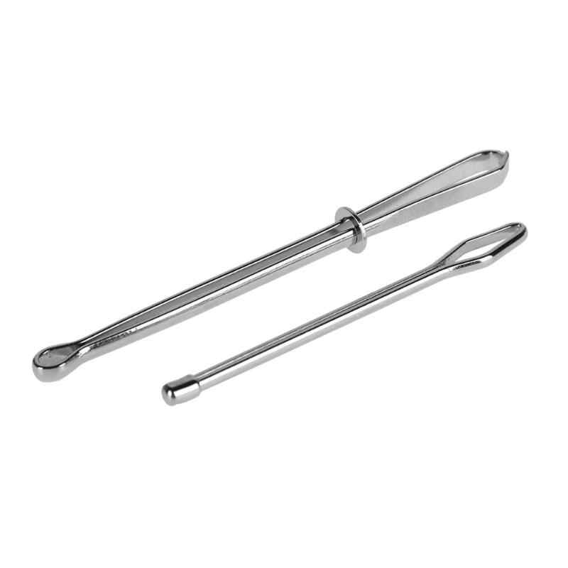 2Pcs Stainless Steel Cited Clips Elastic Belt Wearing Rope Weaving Tool Bag Wrap Rope Wearing Sewing Accessories Crafts Tool