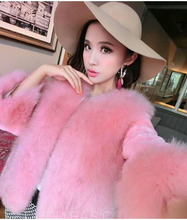 Winter Warm Faux Fur Coat Women Pink Furs Outerwear Ladies iddle Long Sleeve Fur Jacket Furry Fur Tops D650