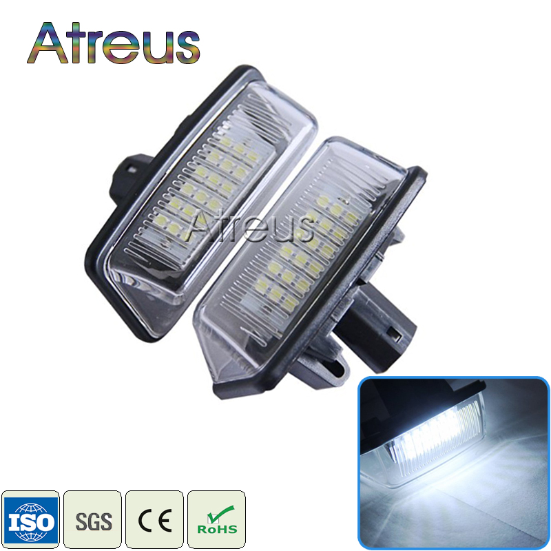 2X Car LED License Plate Lights 12V SMD3528 LED Number Plate Lamp Bulb Kit For Toyota Crown S180 Corolla Vios Previa Accessories for lexus toyota corolla atis 2001 2007 led car license plate light number frame lamp high quality led lights