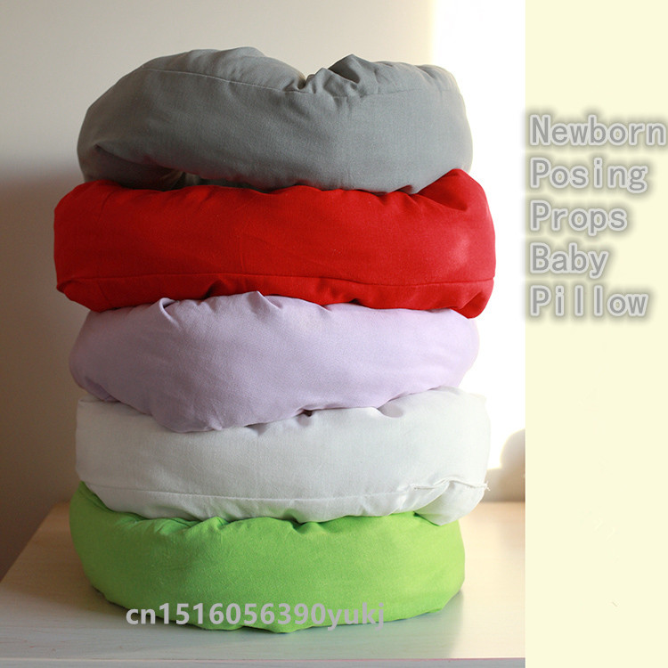 HOT Newborn Photography Basket Filler Nest Poser Pillow Wheat Donut Newborn Posing Beanbags Props Baby Pillow Auxiliary Props