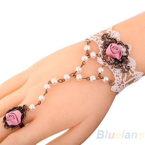 Cute Jewelry White Lace...