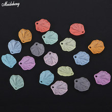 Fashion Medium Hole Jewelry Frosted Leaf Beads Abrasive Blade Hair Ornament Hairpin DIY Loose Bead China Ancient Style Accessory